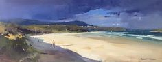 "Colley Whisson     Summer Skies, Aust 9"" x 24"" oil"