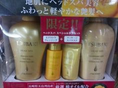 Tsubaki Head Spa Shampoo / Conditioner / Treatment / Hair Water Set by Shiseido. $48.50. The Tsubaki, or Camellia flower, is packed with oleic acids that are extremely compatible with human skin.. Product of Japan. Gift set contains 4 items (37.2 Fl. Oz.): Shampoo, Conditioner, Treatment and Hair Water. Made especially for hair that needs a deeper clean, Shiseido's new Head Spa line is an everyday solution to restore your scalp's condition with its ultra cleansing power.. Redu...