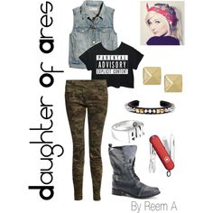 Daughter Of Ares Casual Outfit, Cabin 5, Percy Jackson Inspired Outfit