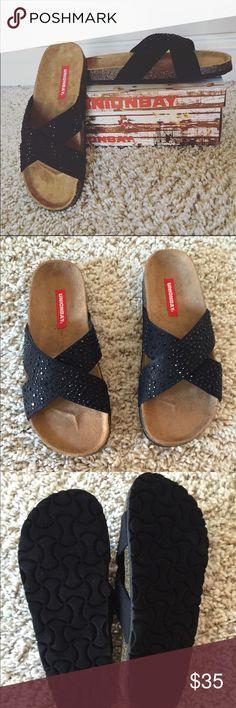 UNIONBAY sparkle black sandals Brand new never been worn. Unionbay Shoes Sandals