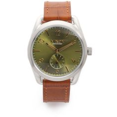 Nixon C39 Leather Watch ($300) ❤ liked on Polyvore featuring jewelry, watches, leather jewelry, nixon, nixon watches, leather band wrist watch and water resistant watches