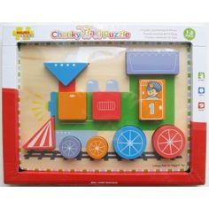 Tvary - lokomotiva. Dřevěná motorická vzdělávací hračka