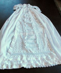 Regal Antique Victorian Christening Gown from FRENCH VINTAGE LINENS AND ANTIQUES  on Etsy.