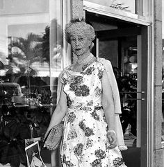 """Consuelo Vanderbilt in Palm Beach, 1950s. She had remarried and settled there with her husband, Jacques Balsan after divorcing the 9th Duke of Marlborough who she married at the """"urging"""" of her mother, Alva Vanderbilt builder of  the """"cottage"""" called Marble House in Newport R.I. Consuelo was one of several very wealthy daughters of Americans who were married off to titled Brits who had no money to pay the bills.mother, Jennie Jerome of NY married the future father of Winston Churchill."""