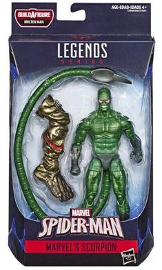 "SPIDER-MAN Marvel Legends Series 6/"" MARVEL/'S SCORPION MINT IN GREAT BOX"