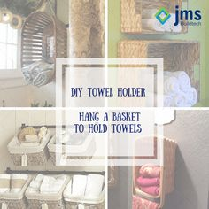 Bored of those baskets lying in the store! Repurpose them into a towel holder. #DIY