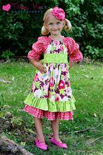 Elena's Twirly Peasant Dress PDF Pattern