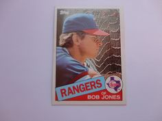 Bob Jones 1985 Topps Baseball Card