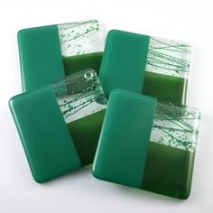 Neat glass coasters