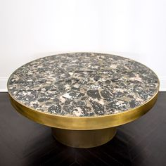 KELLY WEARSTLER | SEDONA COFFEE TABLE. Burnished brass frame with inlaid table top made from semi precious stones Metal Furniture, Table Furniture, Contemporary Furniture, Luxury Furniture, Furniture Decor, Furniture Design, Coffee Table To Dining Table, Modern Coffee Tables, Cool Tables