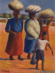 Images of the life and times of South Africa's exiled artist Gerard Sekoto, who is widely regarded a pioneer of South Africa's contemporary black art and social realism Gerard Sekoto, South Africa Art, African Paintings, Famous Artwork, Black Artists, Top Artists, South African Artists, Portraits, Classical Art