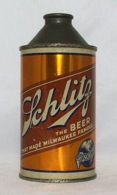 Schlitz Beer 12 oz Cone Top Beer Can Milwaukee Wi   eBay