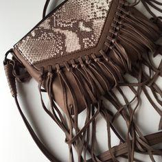 Kooba Python fringe bag Python fringe cross body really soft lambskin leather. Dust bag included Kooba Bags Crossbody Bags
