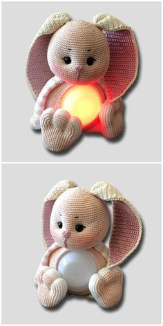Lamp Glow Bunny Free Crochet Pattern