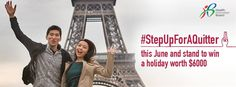"""Step up for a quitter because if you think smoking is bad enough, here comes the haze from the volcanic ash. So Jack and Jill decided to say """"Goodbye Singapore!"""" and """"Bonjour Paris!"""" while posing for a mid-air shot in front of the Eiffel Tower for the Health Promotion Board's not so sensitive campaign."""