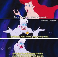 The Little Mermaid - Why do i remember this with Ursula's voice exactly ? Lol. 18 years later.
