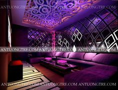 Floor Design, Wall Design, Karaoke, Hookah Lounge Decor, Barra Bar, Nightclub Design, Club Lighting, Red Bar, Futuristic Design