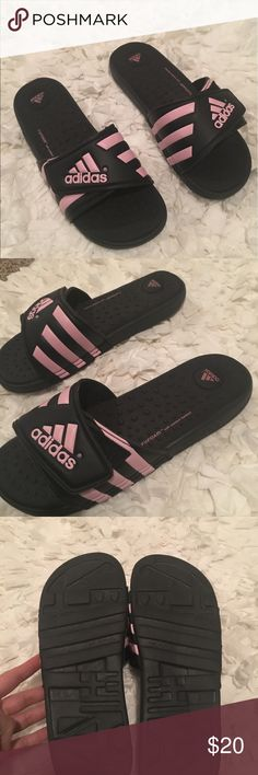 Women's Adidas slides- size 8 Brand new without tags, women's size 8w Adidas slides with fit foam soft comfortable foot beds. Adidas Shoes Sandals