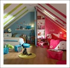 Twin room - awesome idea and looks great