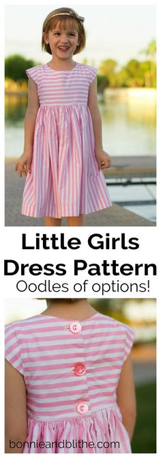 trendy Ideas for dress pattern free easy sewing projects Little Girl Dress Patterns, Toddler Dress Patterns, Sewing Patterns For Kids, Sewing Projects For Kids, Little Girl Dresses, Sewing For Kids, Baby Sewing, Girls Dresses, Pattern Sewing