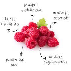 Wiele osób czeka na nie cały rok. Maliny są nie tylko smaczne i słodkie, ale również bardzo zdrowe. Te niepozorne owoce w swoim składzie zawierają m.in.: potas, magnez, wapń, żelazo, witaminę C, E, B1 oraz B6. Co ciekawe, właściwości lecznicze przypisuje się również liściom malin, które zawierają kwasy organiczne, sole mineralne i dużo witaminy C.