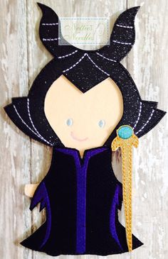 Maleficent Felt Doll Outfit by NettiesNeedlesToo on Etsy, $8.00
