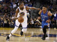 Blog Esportivo do Suíço:  Westbrook faz 21º triplo-duplo, mas Durant brilha, e Warriors batem Oklahoma