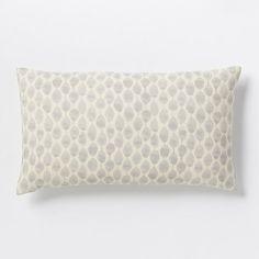 Stamped Mini Dot Pillow Cover - Platinum   West Elm