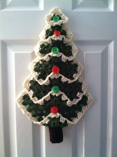 Granny Square Christmas Tree by TheLadybugCrochet on Etsy, $22.00