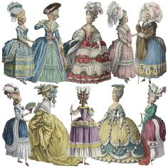 Marie Antoinette Paper Dolls Version 3 by Darvahlous on Etsy