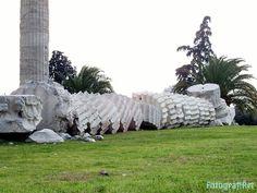 """Templo de Zeus, Atenas, 2.300 años por el suelo. Después de visitar la Acrópolis de Atenas bajamos a ver el Templo de Zeus Olímpico, a quien se lo dedicó el Emperador Adriano, gran admirador de la cultura griega, es una auténtica reliquia de la historia """"reciente"""", construido en mármol del Monte Pentélico próximo a Atenas, se componía de 104 columnas corintias cada una con 17 metros de altura entre las cuales está la  http://www.fotografiart.eu/templo-de-zeus-olimpico/"""