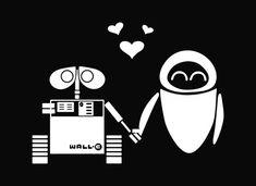Wall e and eva cute love story
