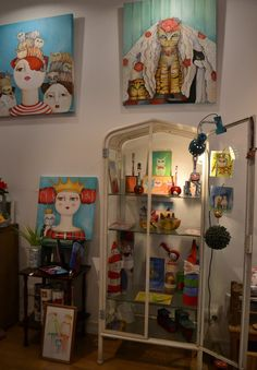 Actitud Creativa KARINA CHAVIN / Circo Golondrina Interior Design Certification, Fashion Painting, Art Journal Inspiration, Art Girl, Folk Art, Painting Styles, Crafts, Furniture, Art Journaling