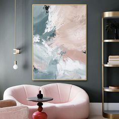 Pink Painting, Oil Painting Abstract, Abstract Wall Art, Diy Canvas Art, My New Room, Home Art, Wall Art Decor, Interior Design, Paintings