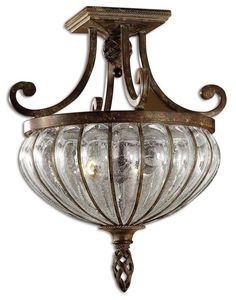 Galeana Iron Semi Flush Ceiling Light