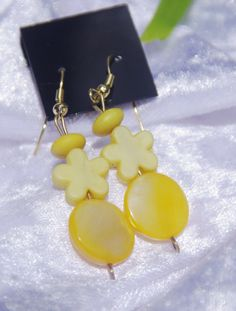Bright Yellow flower Earrings in choice of by TwistedInTheTropics, $5.95