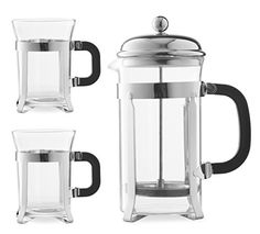$28 Chef's Star Premium 34oz French Coffee Press & 2 Cups Set - French Press and Espresso Maker w/ Stainless Steel Plunger & Heat Resistant Glass Chefs Star® http://www.amazon.com/dp/B00Q56OI24/ref=cm_sw_r_pi_dp_NZSvvb0TMSD8R