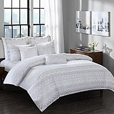 image of INK+IVY Pittsburgh Comforter Set in Grey
