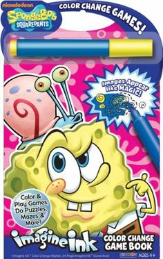 bendon publishing spongebob color change game book by bendon publishing 799 1 imagine ink - Imagine Ink Coloring Book