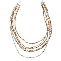 Karine Sultan Two Tone Beaded Necklace- perfect for vaca!