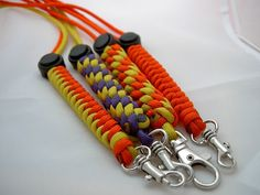 The link goes to a blog where they sell the paracord creations but there are some great ideas.