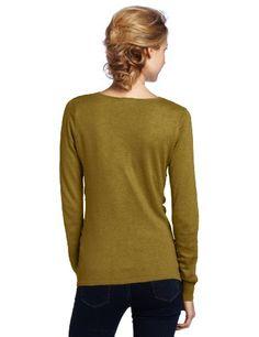 Lilla P Women's Cotton-and-Modal V-Neck Sweater