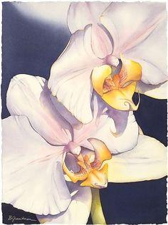 "Two's Company by Barbara Groenteman Watercolor ~ 33"" x 23"" w/frame:"