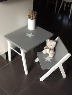 Meubles ensemble table 2 chaises enfant en bois patin - Table et chaise enfant bois ...