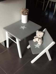 1000 ideas about chaise bureau enfant on pinterest chaise bureau enfants - Table et chaise bois ...