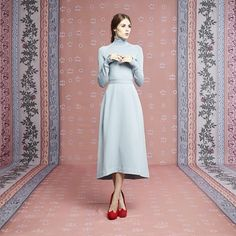 Ulyana Sergeenko jersey dress from the Capsule collection