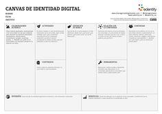 ¿Quieres desarrollar tu presencia onlinel? Este canvas de #identidaddigital te puede ayudar