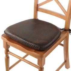 Nobuk Faux Leather Memory Foam Chair Pad