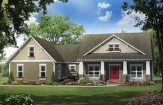 Craftsman Plan: 2,118 Square Feet, 4 Bedrooms, 2.5 Bathrooms - 348-00184