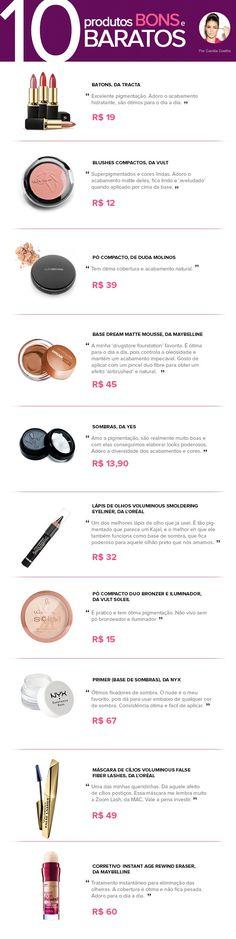 10 produtos bons e baratos - Camila Coelho